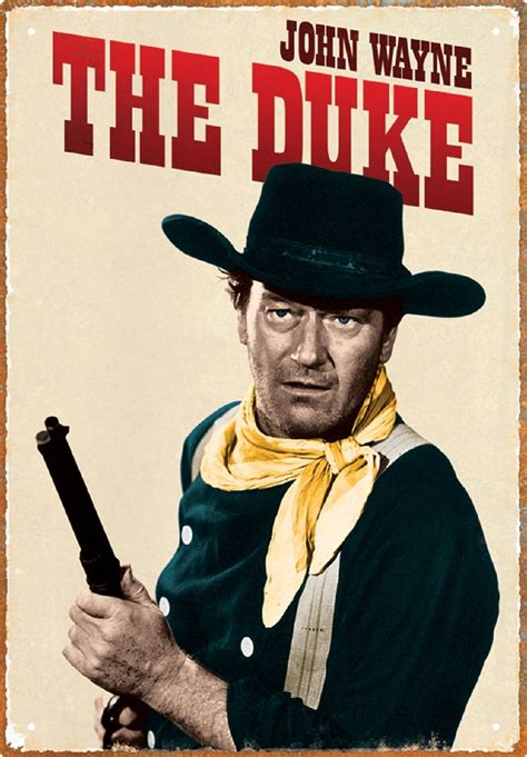 Decor Home Office by John Wayne The Duke Tin Sign