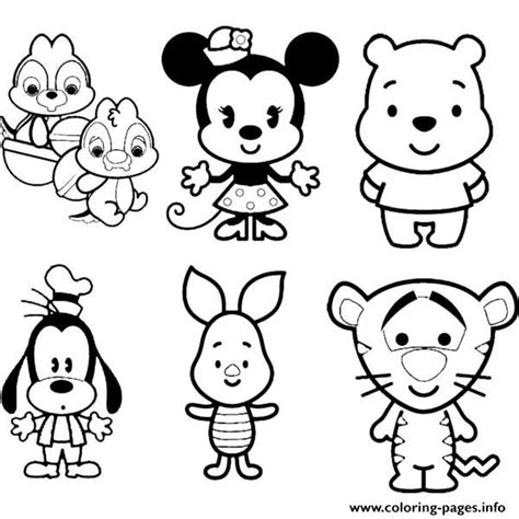 print disney cuties tsum tsum kids coloring pages