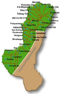 negros occidental map geography of negros occidental negros occidental