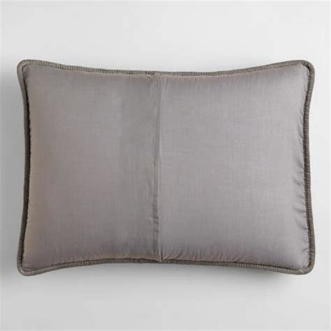 gray velvet pillow shams set of 2 world market