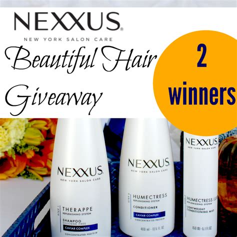 Hair Giveaway - nexxus beautiful hair giveaway winners