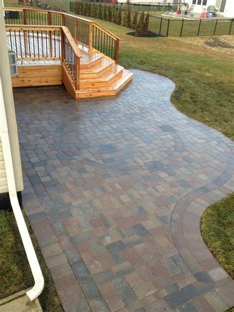 Oaks Brick Pavers Macomb Twp Mi Cedar Deck Oaks Brick Paver Patio