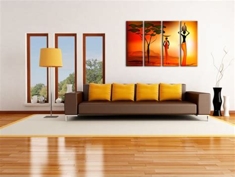 Decoration Murale Design Peinture by Tableau D 233 Co Africain Moderne D 233 Coration Murale Salon