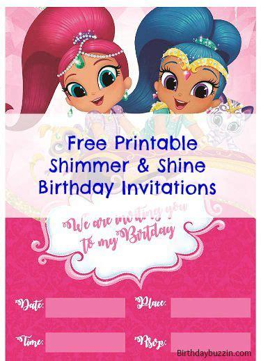 Free Printable Shimmer And Shine Birthday Invitations Emms Bday Pinterest Birthday Shimmer And Shine Invitations Templates