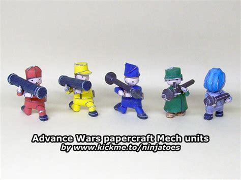 Advance Wars Papercraft - advance wars mech units papercraft paperkraft net free