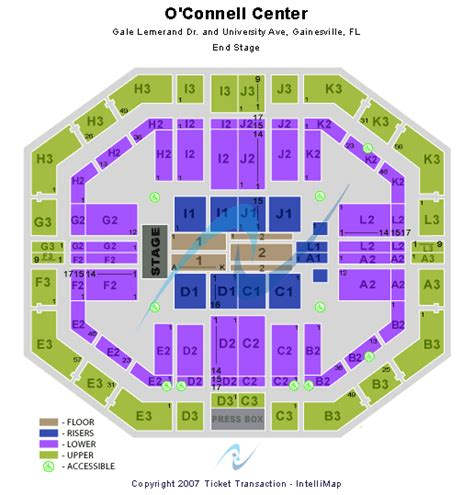 stephen o connell center seating chart concert venues in gainesville fl concertfix