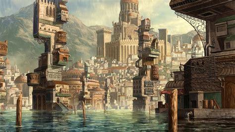 artstation assassin shen fei artstation water town shen fei