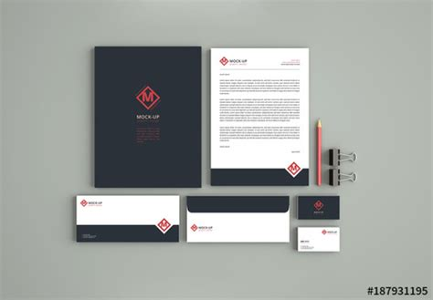 Business Stationery Set Mockup 2 Buy This Stock Template And Explore Similar Templates At Adobe Adobe Mockup Templates