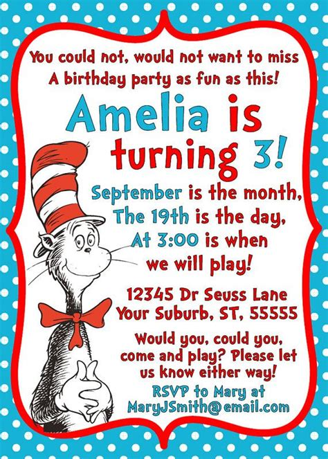 dr seuss index card template 25 best ideas about dr seuss invitations on