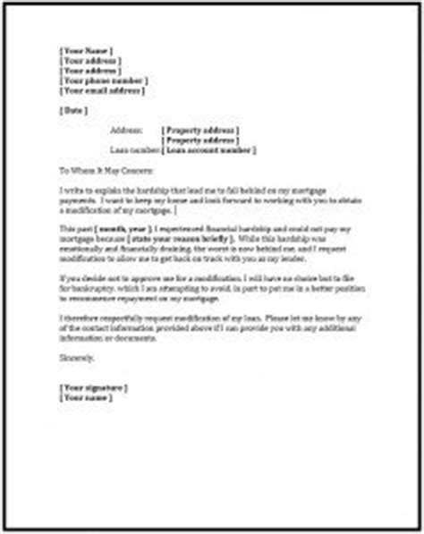 Financial Loan Letter Sle How To Write A Financial Hardship Letter