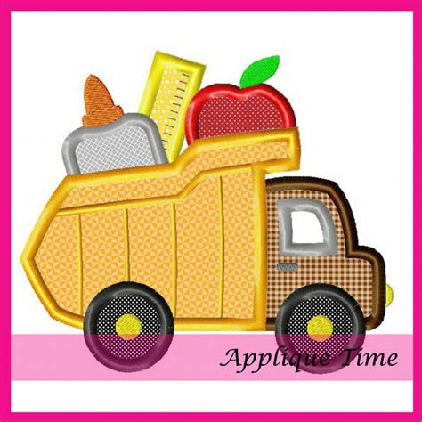 Dump Truck Applique Machine Embroidery by Instant Dump Truck School Supplies Machine