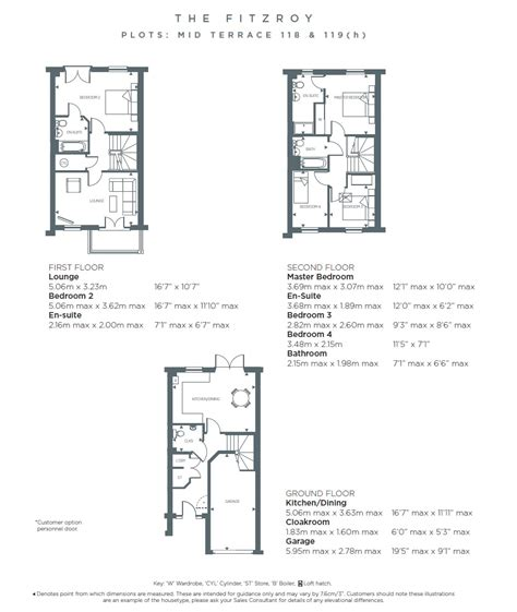 redrow 2 bedroom houses fitzroy mid terrace priory gate hertford redrow