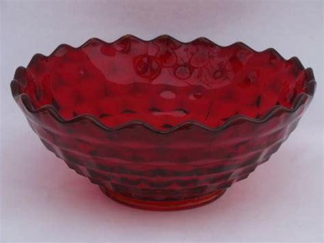 Big Ruby Sy 1 big ruby fostoria american cube pattern salad punch bowl