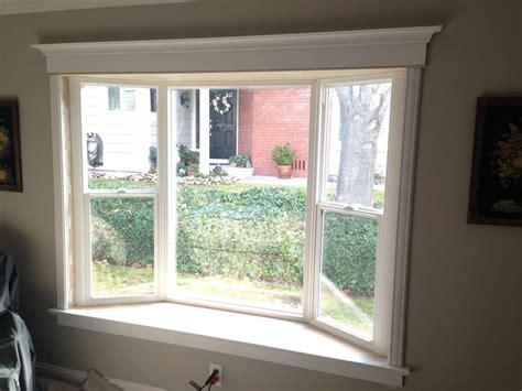 interior view of simonton bay window with custom trim work