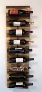 wall wine rack for 9 bottles by aspen bottle holders