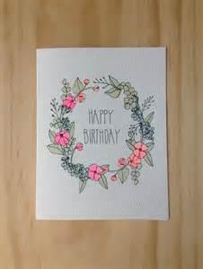 floral wreath birthday card design cards birthdays and