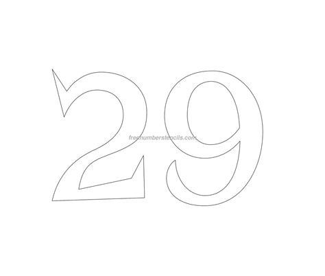 free printable vintage number stencils free retro 29 number stencil freenumberstencils com