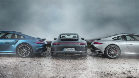porsche vs porsche 911 turbo s vs 911 4 s vs 911 gts top gear