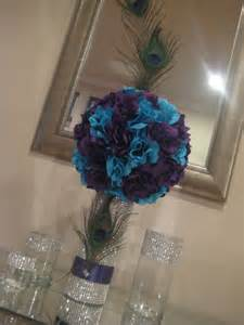 peacock wedding centerpieces peacock centerpiece pomander by mykreations4u on etsy wedding