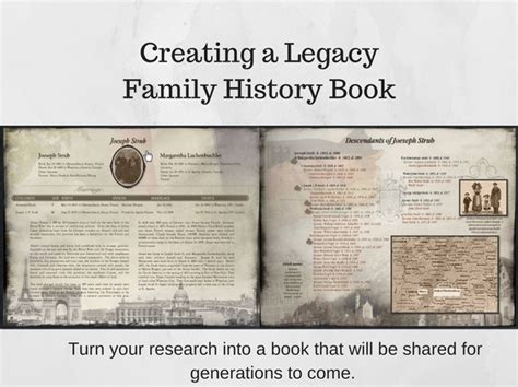 layout family history book creating a legacy family history book premium package