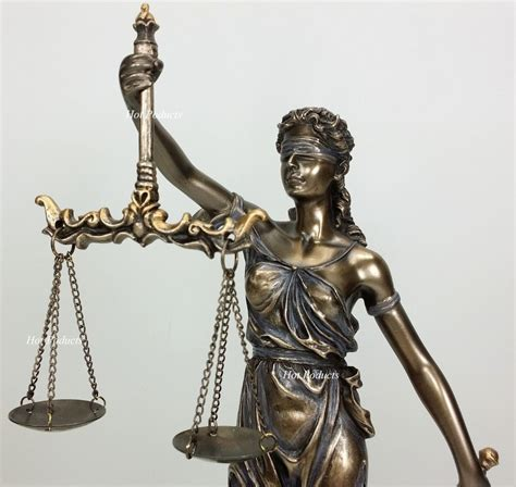 Desk Statue blind justice scales lawyer firm attorney statue