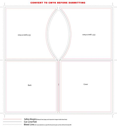 sleeve template 2 cd sleeve