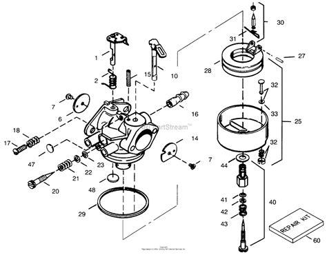 toro   power shift snowthrower  sn   parts diagram  carburetor