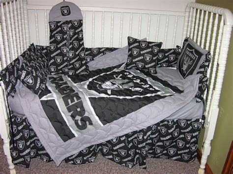 raiders bedding new crib bedding m w oakland raiders fabric