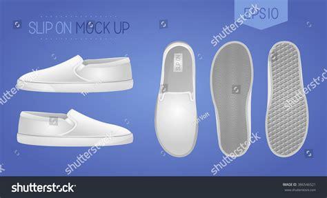 blank slipon shoes mock up white stock vector 386546521