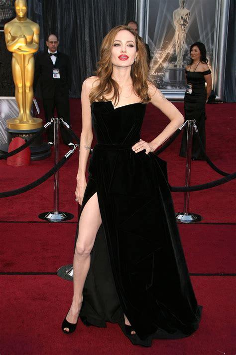 celebrity red carpet dresses kzdress angelina jolie tiered red carpet dress sexy black vestidos