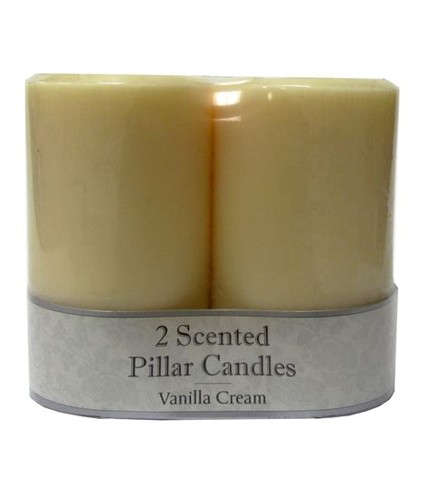 gold and cream pillar candles 3 quot x5 quot pillar candles 2pk vanilla jo