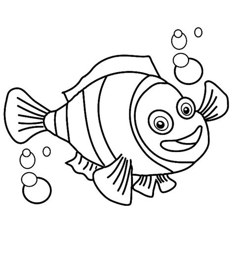 Free Coloring Pages Of Clownfish And The Anemone Clown Fish Coloring Page