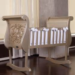 chelsea cradle in antique silver and luxury baby cribs in