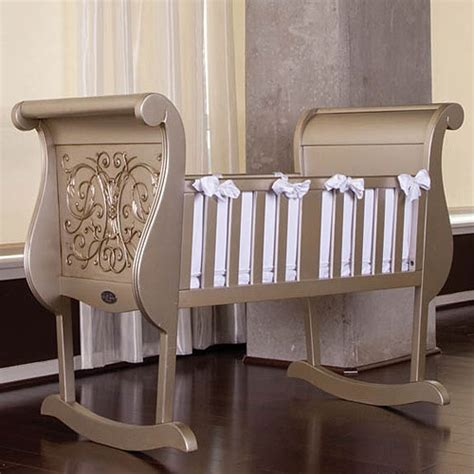 Silver Baby Crib by Chelsea Cradle In Antique Silver And Luxury Baby Cribs In