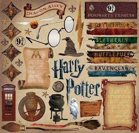 Harry Potter Scrapbook Stickers creative imaginations harry potter scrapbooking