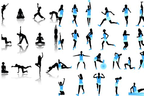 exercise clip fitness cliparts