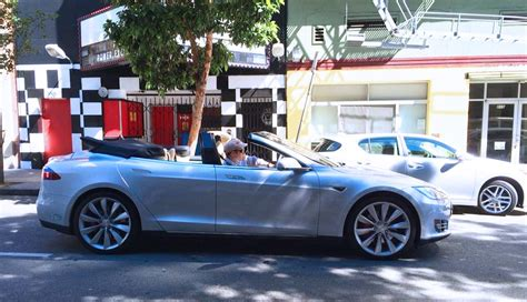 Convertible Tesla Model S Convertible Tesla Model S Hits The Road