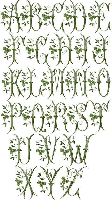 celtic pattern fonts shamrock font