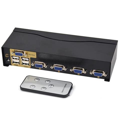 Switch Printer Usb 4 Port aliexpress buy bowu ir remote 4 port usb 2 0 kvm switch vga svga switch adapter connect