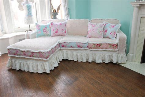 shabby chic sectional sofa shabby chic sectional sofa vintage from vintagechicfurniture