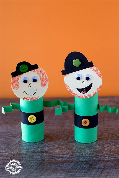 easy and toilet roll leprechaun craft