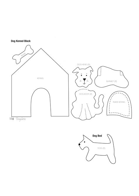 best photos of simple dog template free printable sewing