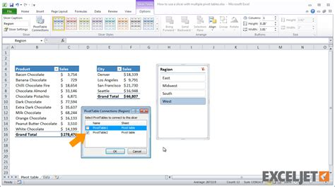 excel 2013 advanced filter tutorial multiple pivot tables on one worksheet two pivot tables