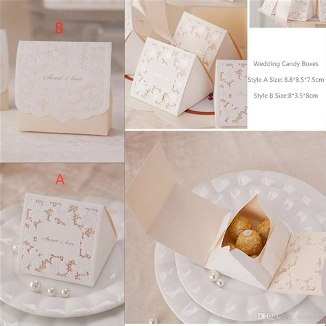 laser gold luxury wedding favour boxes paper gift card box