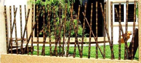 desain pagar bambu cantik  unik minimalis