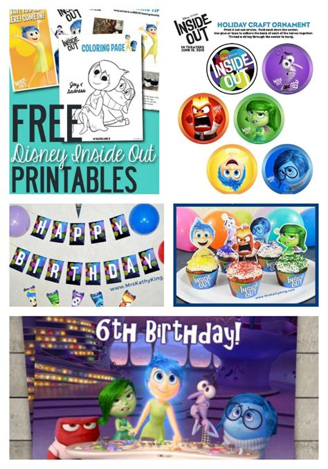 inside out printable party decorations ultimate inside out movie party guide around my family table