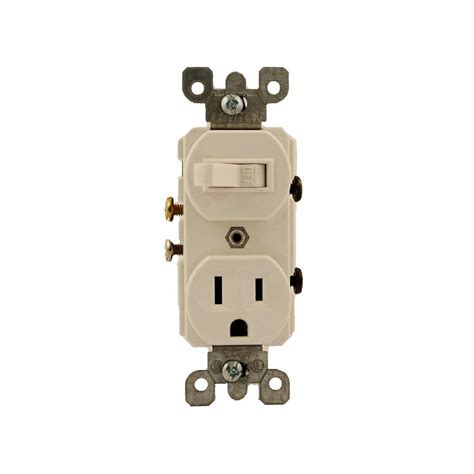 leviton 15 combination switch outlet white 5225 ws