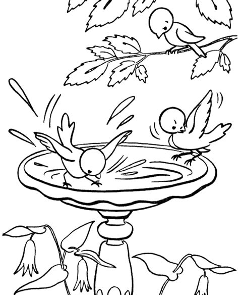 coloring page drinking water birds drinking water coloring sheets to print or download