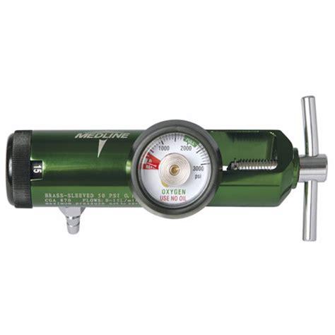 Regulator Oksigen Regulator Pernapasan medline oxygen regulator for small cylinders 0 15 lpm 1 each hcs8715m