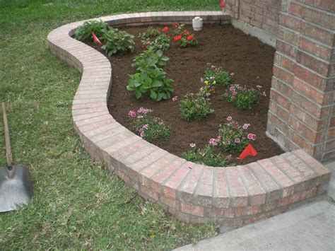 brick flower bed leftover brick idea to make a flower bed maybe scott and christopher can do this